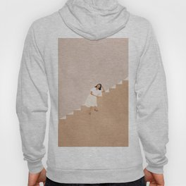 Girl Thinking on a Stairway Hoody