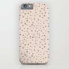 PolkaDots-Taupe on Peach iPhone 6s Slim Case