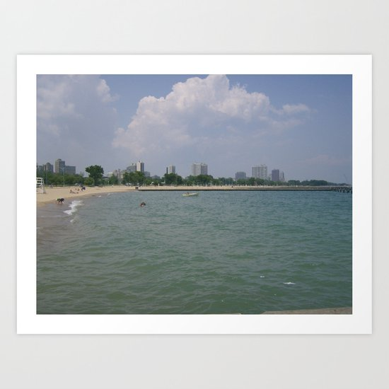 Lets Go Out To The Beach! Art Print