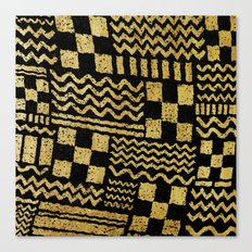 Gold Fuse Canvas Print