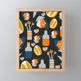 Orange juice Framed Mini Art Print