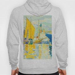 Henri-Edmond Cross Neo-Impressionism Pointillism Venice-The Giudecca Watercolor Painting Hoody