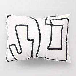 Abstract line art Pillow Sham