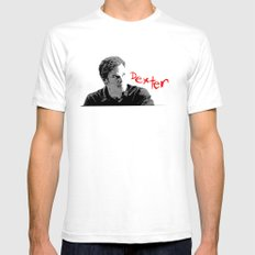 Dexter SMALL White Mens Fitted Tee