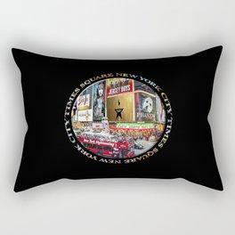 Times Square New York City (badge emblem on black) Rectangular Pillow