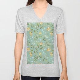 Colourscape Summer Floral Pattern Nebula Unisex V-Neck