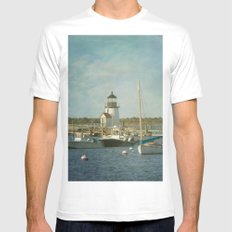 Welcome to Nantucket Mens Fitted Tee White MEDIUM