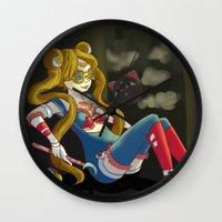 steam punk Wall Clocks featuring Sailor steam punk by K-Boomsky