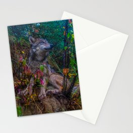 Wolf Pup in the Forest Stationery Cards