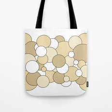 Bubbles - brown and white Tote Bag