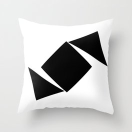Abstract Modern Minimalist shapes Graphic Square triangles - balance Throw Pillow