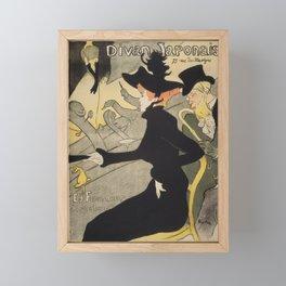 Divan Japonais - Henri de Toulouse Lautrec Framed Mini Art Print