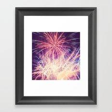 Fireworks - Evening Summer Festival Photography Framed Art Print
