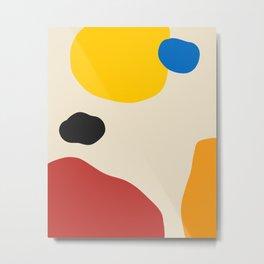 bahaus abstract shapes art Metal Print