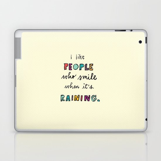 when it's raining Laptop & iPad Skin
