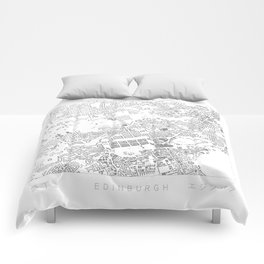 Edinburgh Figure Ground Comforters