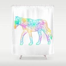 Dark night horse Shower Curtain