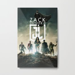 Justice League Snyder's Cut 2021 Movie Poster - Official Art - High Quality Metal Print