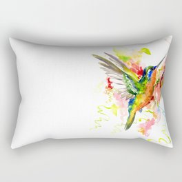 Tropical Hummingbird Rectangular Pillow