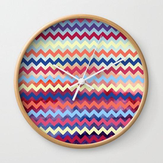 Watercolor Chevron II Wall Clock