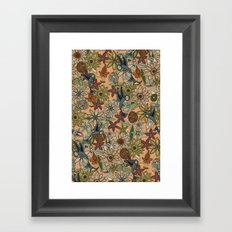 nectar bird garden peach Framed Art Print