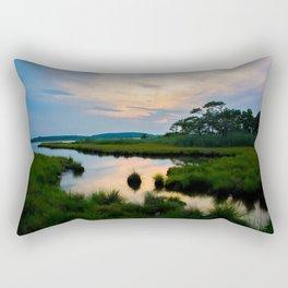 Sunset on the Marsh Rectangular Pillow
