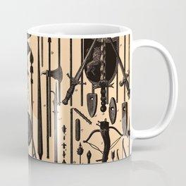 Vintage Medieval Weapons Diagram (1907) Coffee Mug