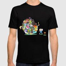 Adventure Time - Land of Ooo Katamari Mens Fitted Tee Black LARGE