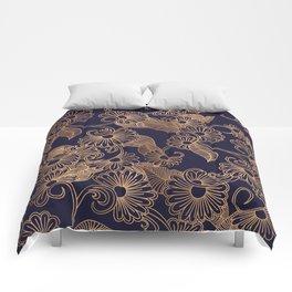 Flower Golden Comforters