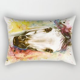 """Into the mirror"" n°2 The horse Rectangular Pillow"