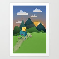 Over The Hills Art Print