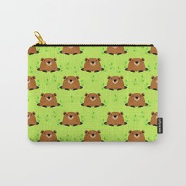 Adorable Groundhog Pattern Carry-All Pouch