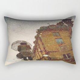 Polka Dot Brollie Lady Rectangular Pillow