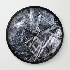 Ice Patterns Wall Clock