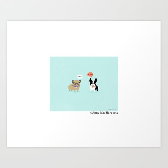 Dog Fart Art Print