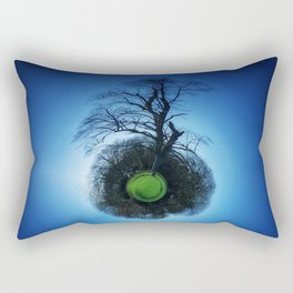 Tiny Planet 1 - Floating in the Big Blue Rectangular Pillow