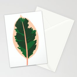 Rubber Tree Leaf Stationery Cards
