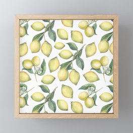 Lemon Fresh Framed Mini Art Print