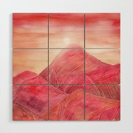 Lines in the mountains XXIII Wood Wall Art