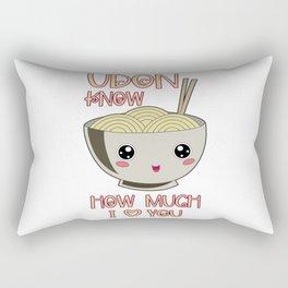 Udon Bowl Japanese Noodle Miso Soup Rectangular Pillow