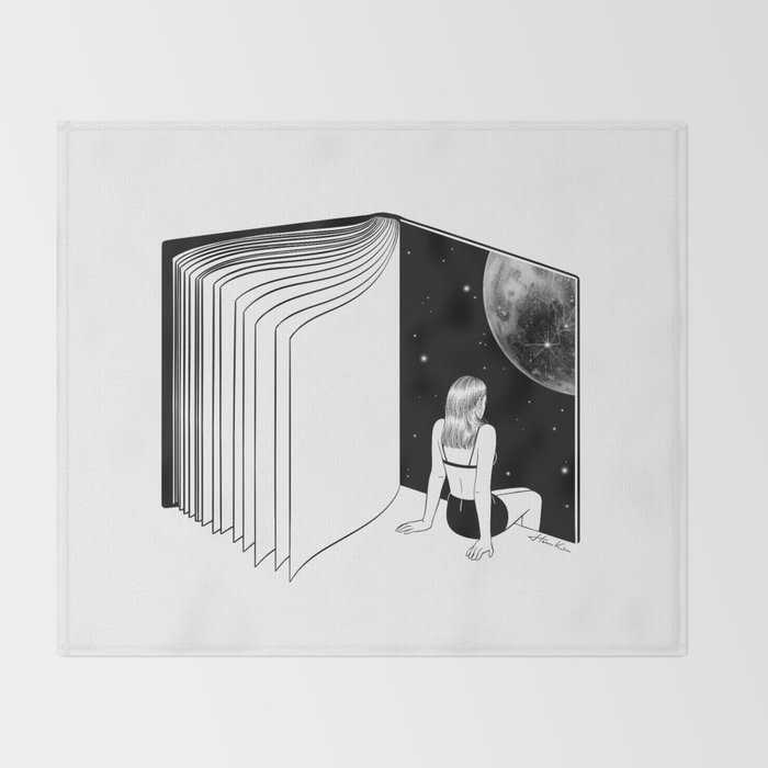 Reading is Dreaming with Your Eyes Open Throw Blanket