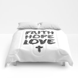 Faith Hope Love Comforters