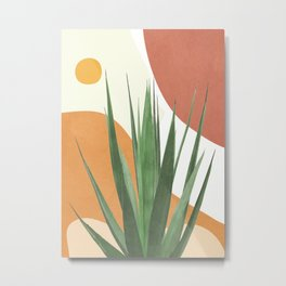 Abstract Agave Plant Metal Print