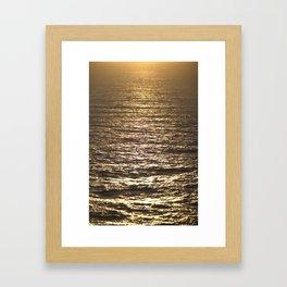 Sun ray on the sea Framed Art Print