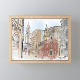 The Old State House Framed Mini Art Print