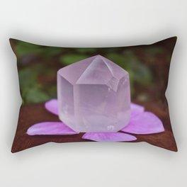 Rose Quartz with flower petals Rectangular Pillow