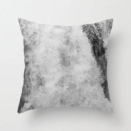 The hidden waterfall Throw Pillow