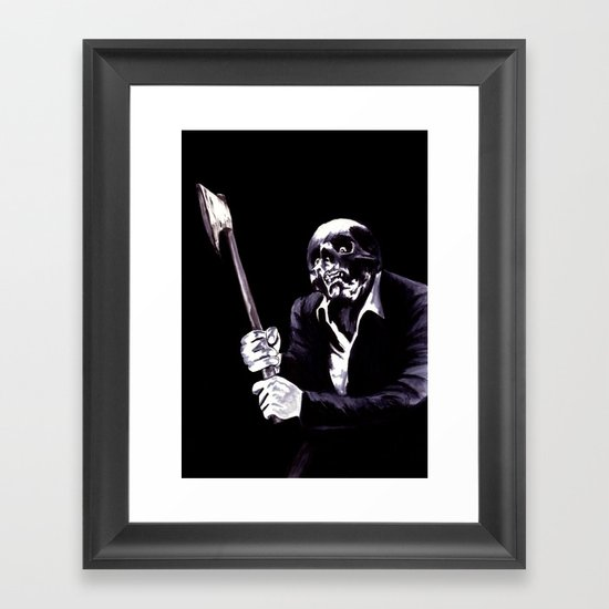 Bastard's Got A Hatchet  Framed Art Print