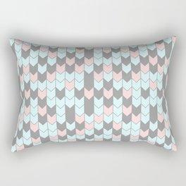 Modern coral teal gray geometrical zigzag chevron Rectangular Pillow