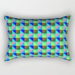 Eight Triangles Invert Pixel Rectangular Pillow